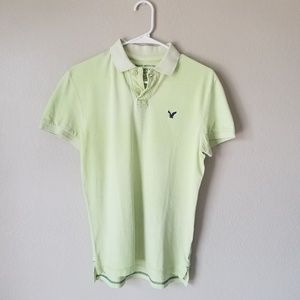 Mens neon green polo shirt